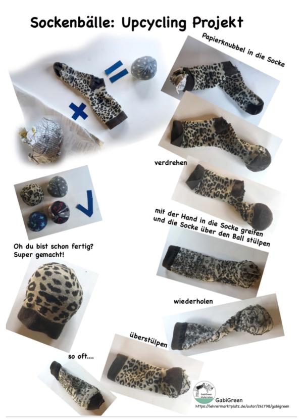 Sockenbälle: Das Upcycling Projekt